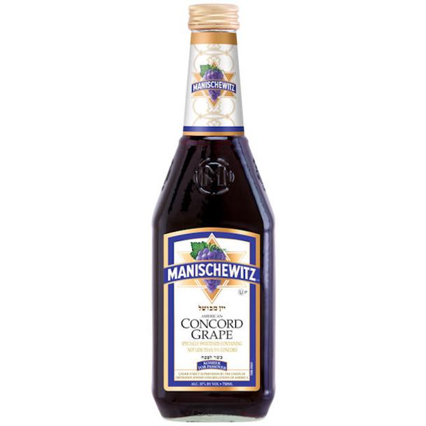 Manischewitz Concord Grape Wine Kosher 750ml