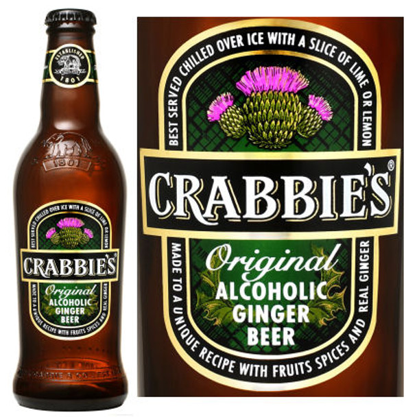 Crabbie's Original Alcoholic Ginger Beer (Scotland) 16oz