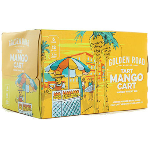 Golden Road Mango Cart Tart Wheat Ale 12oz 6 Pack Cans