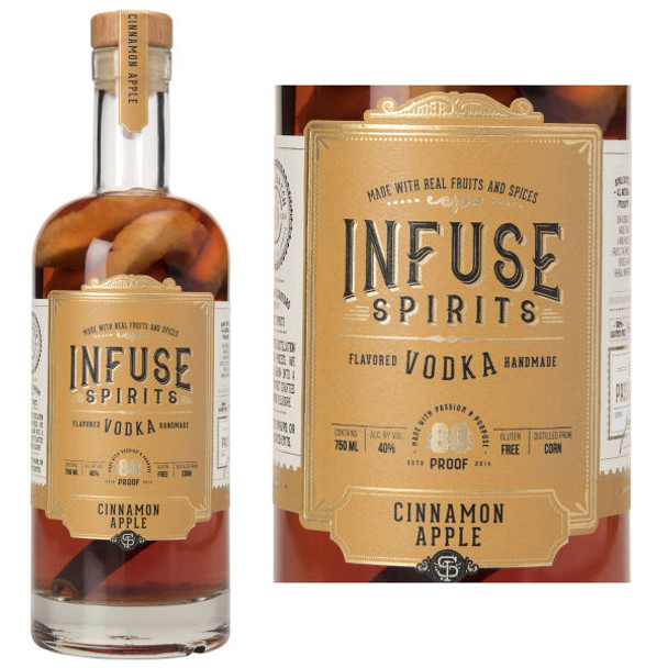 Infuse Spirits Cinnamon Apple Vodka 750ml