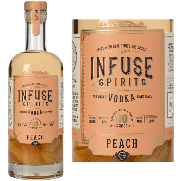 Infuse Spirits Peach Vodka 750ml