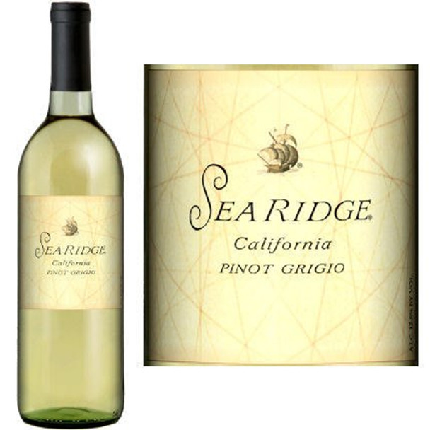 12 Bottle Case Sea Ridge California Pinot Grigio 2017 w/ Free Shipping