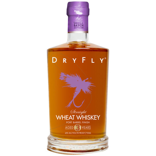 Dry Fly Port Barrel Finish Straight Wheat Whiskey 750ml
