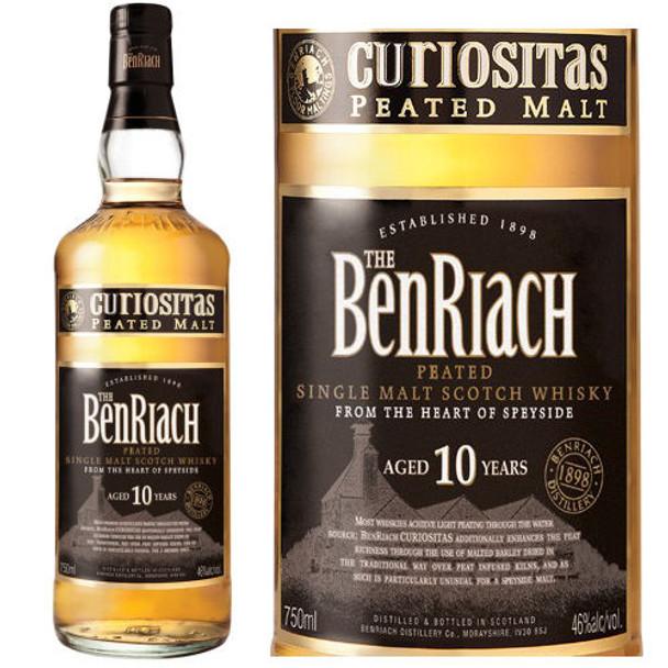 BenRiach Curiositas 10 Year Old Speyside Single Malt Scotch 750ml