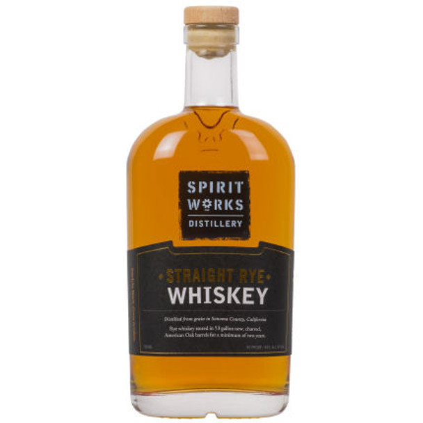 Spirit Works Distillery California Straight Rye Whiskey 750ml