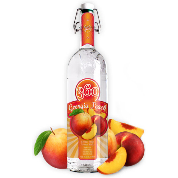 360 Vodka Georgia Peach Vodka 750ml