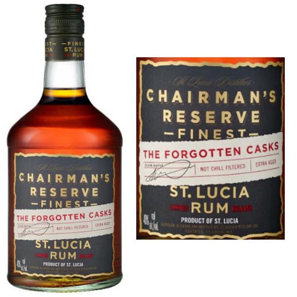 Saint Lucia Chairman's Reserve The Forgotten Casks Rum 750ml