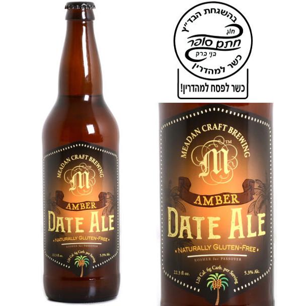 Meadan Craft Brewing Gluten Free Amber Date Ale 22oz Kosher