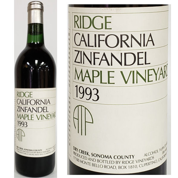 Ridge Maple Vineyard Dry Creek Zinfandel