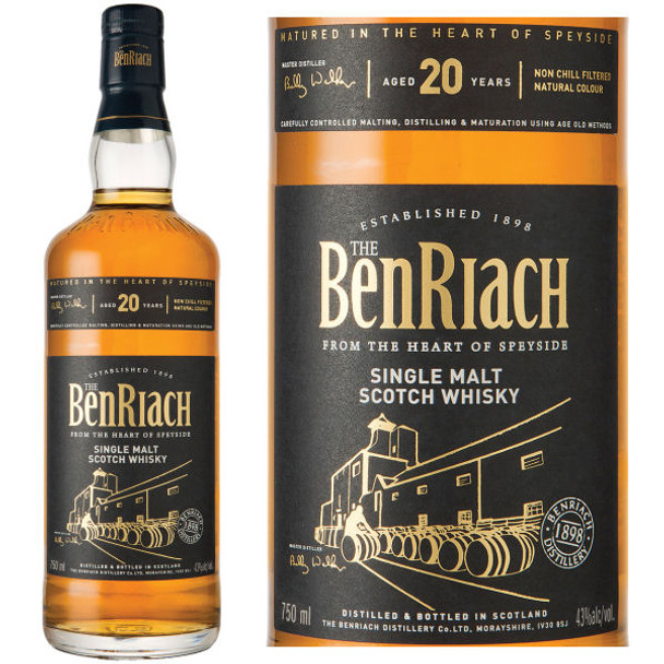 The BenRiach 20 Year Old Speyside Single Malt Scotch 750ml