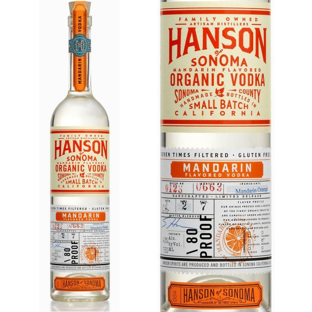 Hanson of Sonoma Mandarin Organic Vodka 750ml