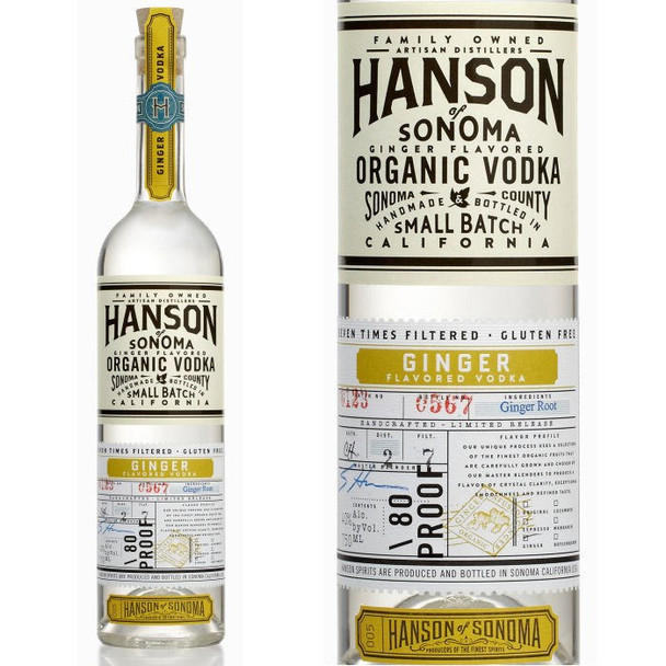 Hanson of Sonoma Ginger Organic Vodka 750ml