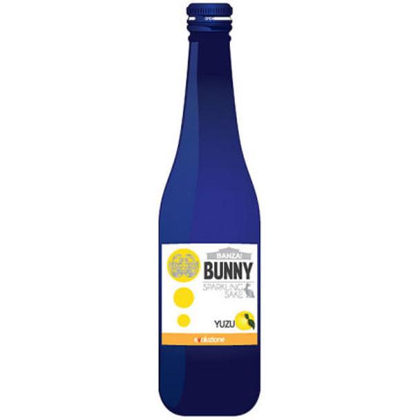Banzai Bunny Yuzu Sparkling Junmai Sake 300ml