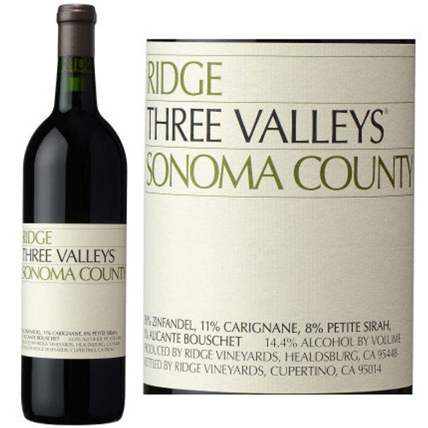Ridge Three Valley Sonoma County Zinfandel