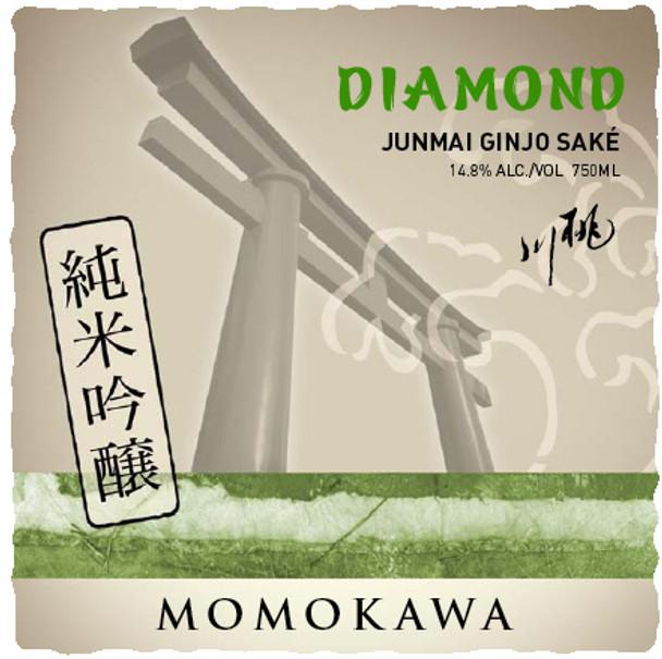 Momokawa Diamond Junmai Ginjo Medium Dry Sake 750ml