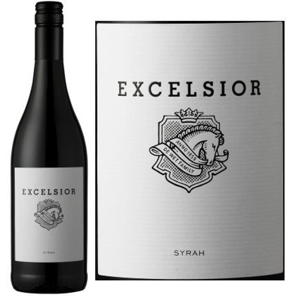 12 Bottle Case Excelsior Estate Syrah 2015 (South Africa) w/ Free Shipping