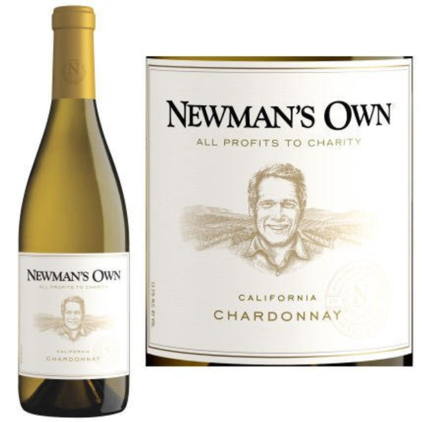 12 Bottle Case Newman's Own California Chardonnay 2016 w/ Free Shipping