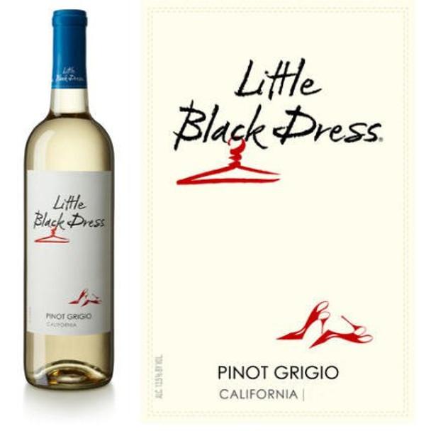 12 Bottle Case Little Black Dress California Pinot Grigio 2017 w/ Free Shipping