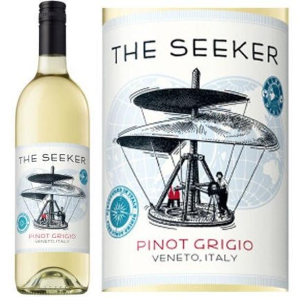12 Bottle Case The Seeker Veneto Pinot Grigio IGT 2017 w/ Free Shipping