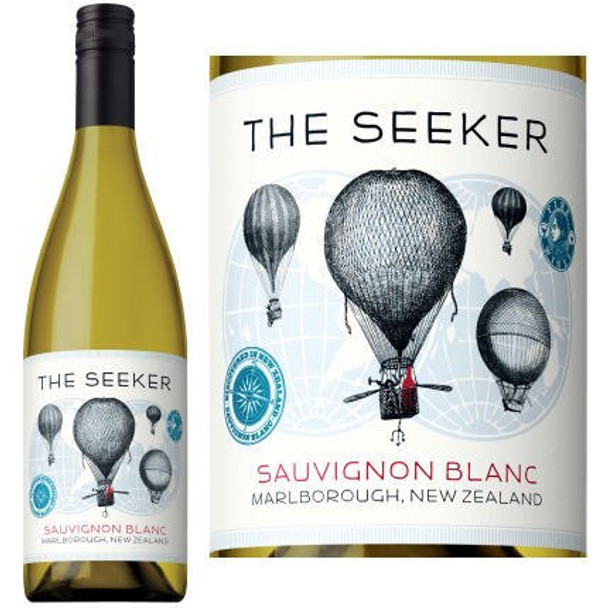 12 Bottle Case The Seeker Marlborough Sauvignon Blanc 2017 (New Zealand) w/ Free Shipping