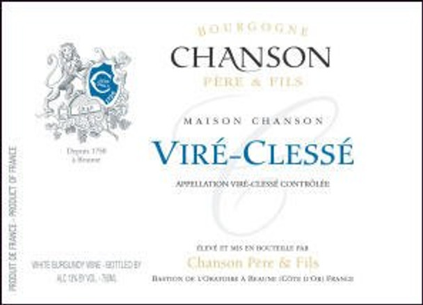 12 Bottle Case Chanson Vire Clesse 2013 (France) w/ Free Shipping