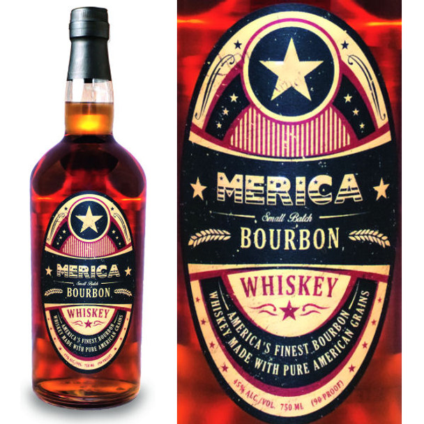 Merica Small Batch Bourbon Whiskey 750ml