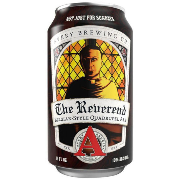 Avery Brewing The Reverend Belgian-Style Quadrupel Ale 12oz 6 Pack Cans