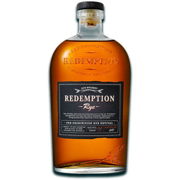 Redemption Straight Rye Whiskey 750ml