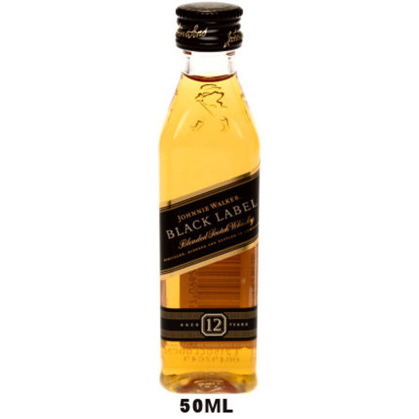 50ml Mini Johnnie Walker Black Label 12 Year Old Blended Scotch