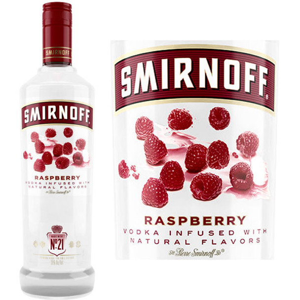 Smirnoff Raspberry Vodka 750ml