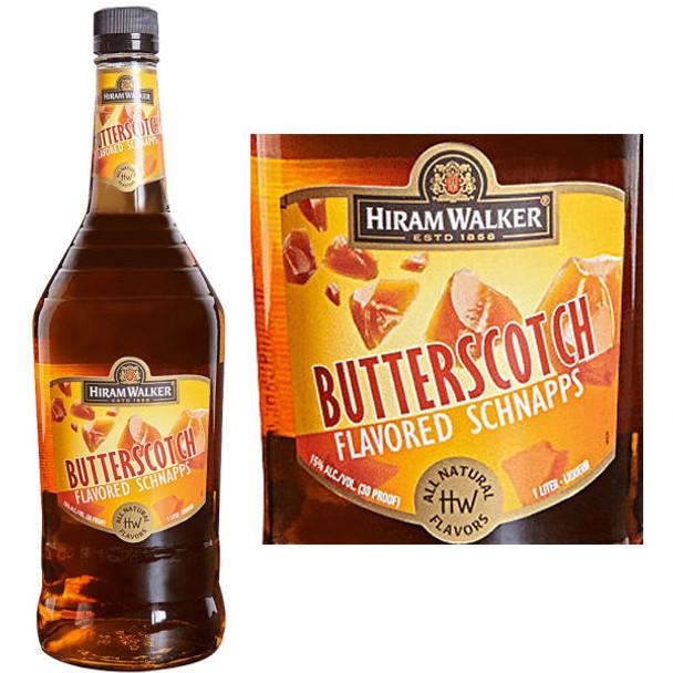 Hiram Walker Butterscotch Flavored Schnapps US 1L