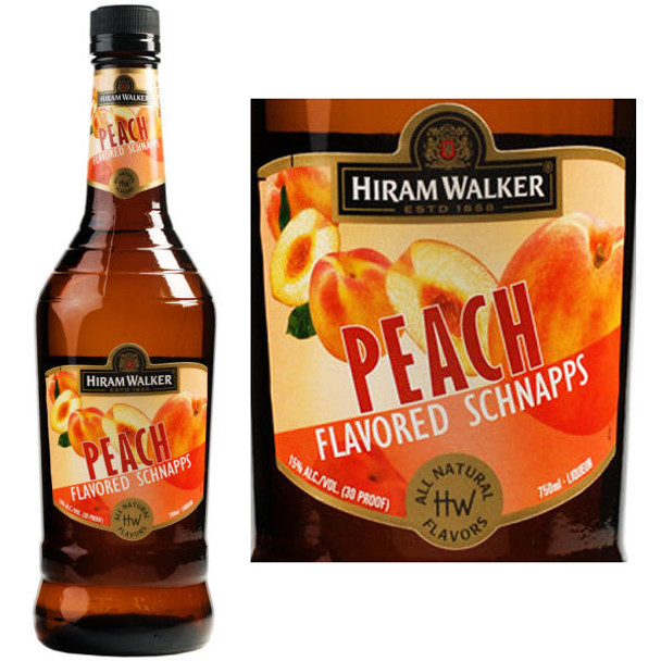 Hiram Walker Peach Flavored Schnapps US 1L