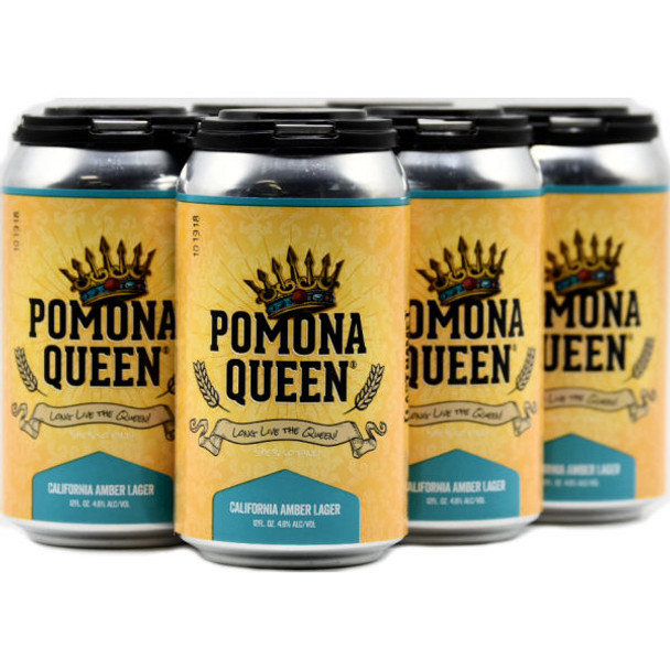 Last Name Pomona Queen California Amber Lager 12oz 6 Pack Cans