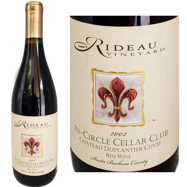 Rideau Chateau Duplantier Cuvee Santa Barbara Red Wine 2002