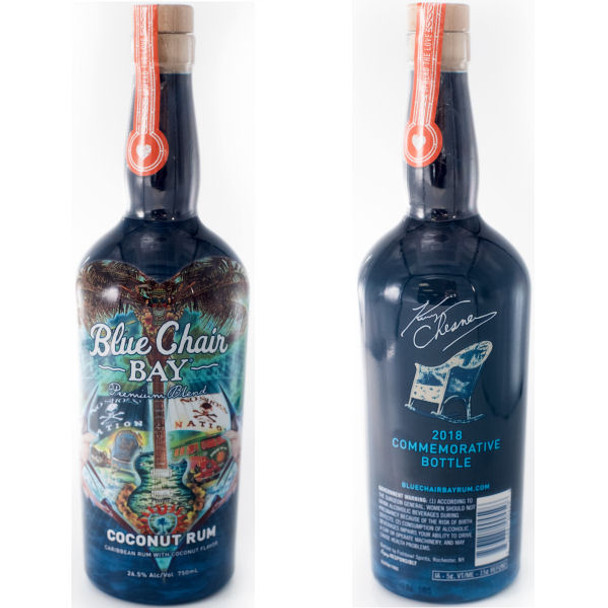 Kenny Chesney Blue Chair Bay Premium Blend Coconut Rum Commemorative Bottle 2018 750ml