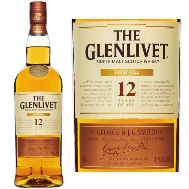 The Glenlivet First Fill 12 Year Old Speyside 750ml