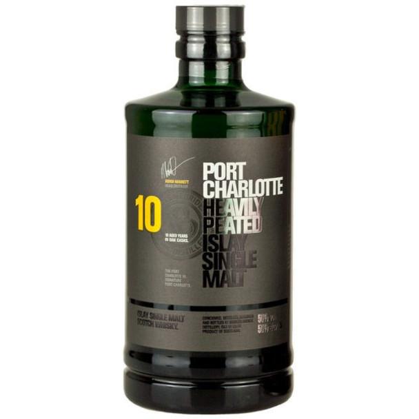 Bruichladdich Port Charlotte 10 Year Old Islay Single Malt Scotch 750ml