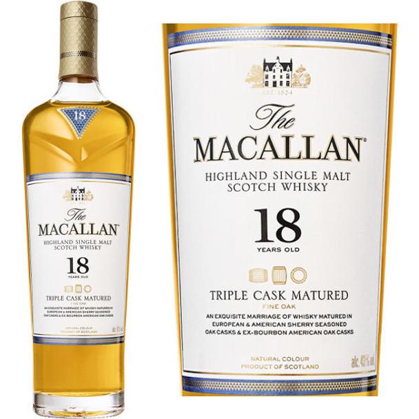 Macallan 18 Year Old Triple Cask Matured 750ml