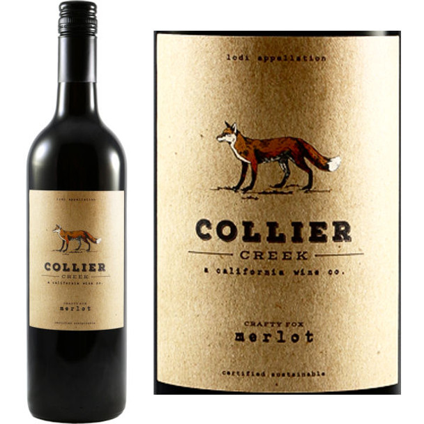 Collier Creek Crafty Fox Lodi Merlot