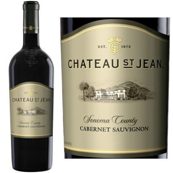 12 Bottle Case Chateau St. Jean Sonoma Cabernet 2014 w/ Free Shipping