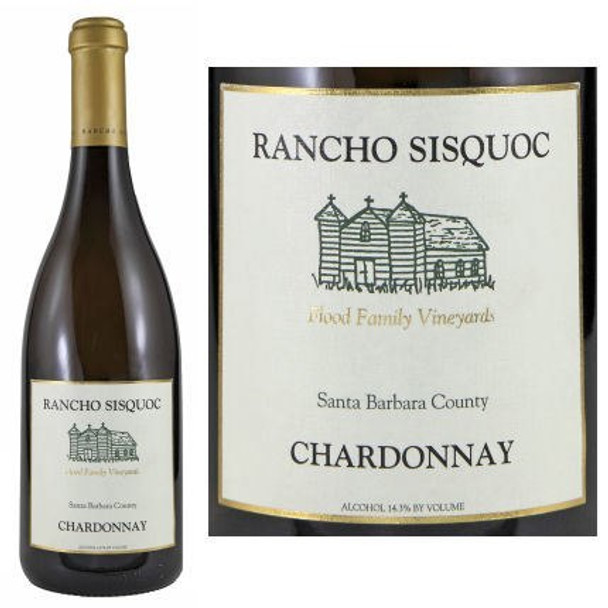 12 Bottle Case Rancho Sisquoc Santa Barbara Chardonnay 2015 w/ Free Shipping