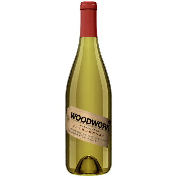 12 Bottle Case Woodwork Central Coast Chardonnay 2015 w/ Free Shipping