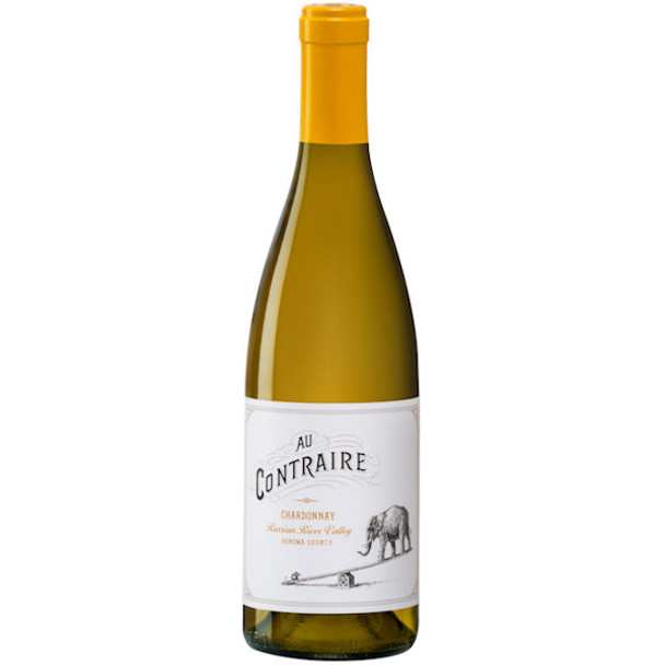 12 Bottle Case Au Contraire Russian River Chardonnay 2017 w/ Free Shipping