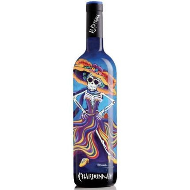 12 Bottle Case La Catrina Day of the Dead Mother of the Bride California Chardonnay NV w/ Free Shipping
