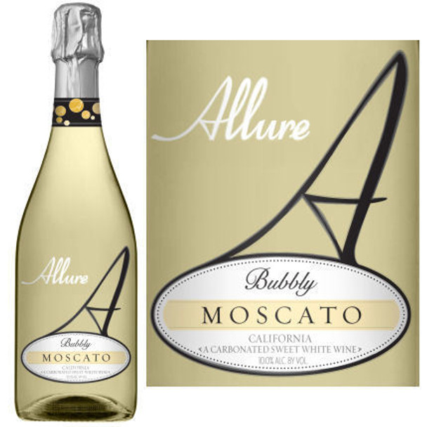 12 Bottle Case Allure Bubbly California Moscato NV Rated 90 GOLD MEDAL w/ Free Shipping