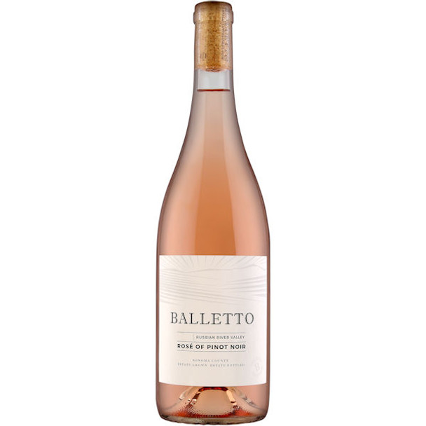 12 Bottle Case Balletto Russian River Rose of Pinot Noir 2017 w/ Free Shipping