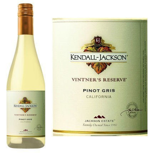 12 Bottle Case Kendall Jackson Vintner's Reserve Pinot Gris 2016 w/ Free Shipping
