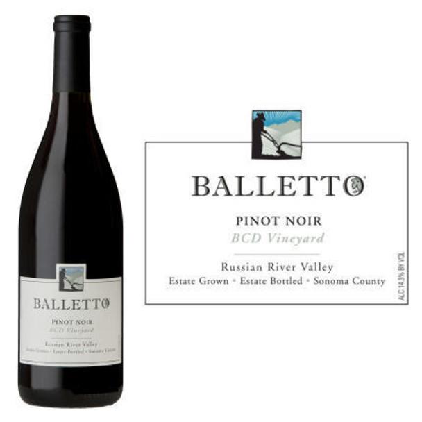 12 Bottle Case Balletto BCD Vineyard Russian River Pinot Noir 2016 w/ Free Shipping