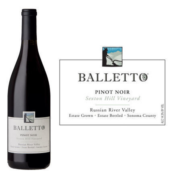 12 Bottle Case Balletto Sexton Hill Vineyard Russian River Pinot Noir 2017 w/ Free Shipping