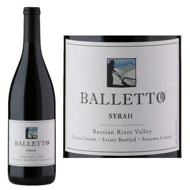 12 Bottle Case Balletto Russian River Estate Syrah 2015 w/ Free Shipping